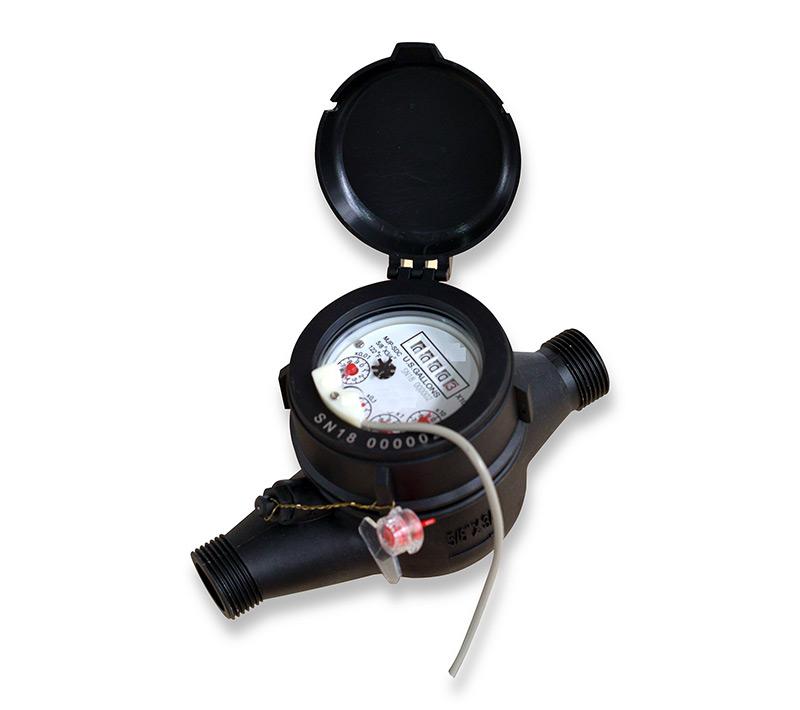 Multijet dry type water meter Model MJP-SDC IN US GALLONS
