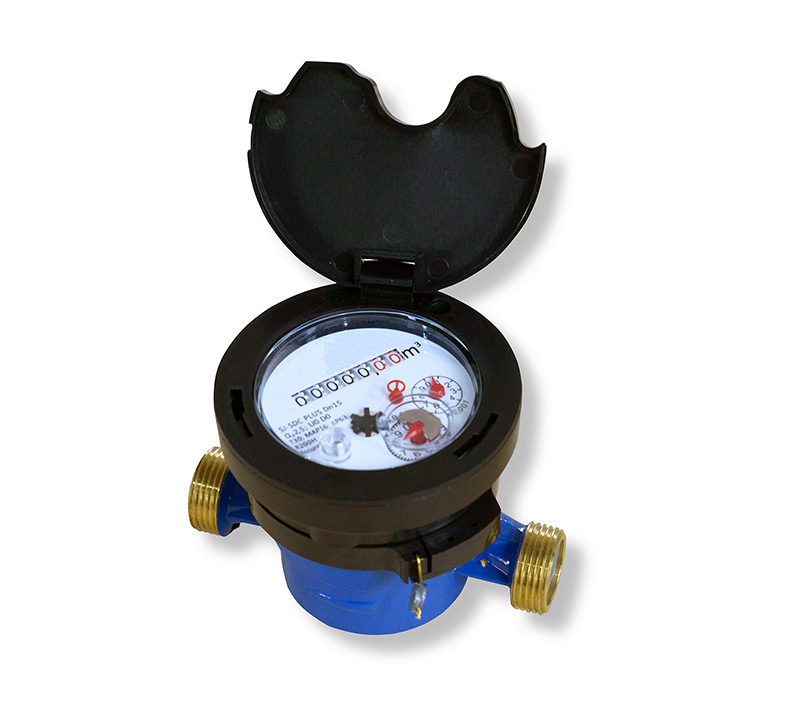 Single-jet dry type water meter Model SJ-SDC IN BRASS BODY